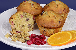Cranberry Orange Nut Muffin