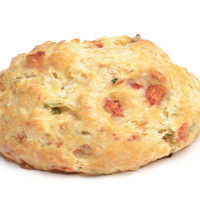 Cheddar, Red Pepper & Scallion Drop Scone